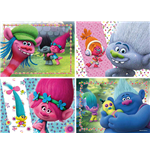 Ravensburger 06864 - Puzzle 4 In A Box - Trolls