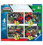 Ravensburger 06867 - Puzzle 4 In A Box - Ultimate Spider-Man - Sinister 6