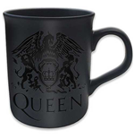 Queen - Boxed Black Matt Mug: Crest (Tazza Grande)