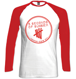 5 Seconds Of Summer - Derping Stamp Raglan Baseball (T-SHIRT Manica Lunga Unisex )