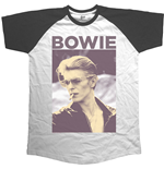 David Bowie - Raglan Baseball Smoking (T-SHIRT Unisex )