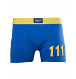 Fallout 4 - Blue Boxershort With Yellow 111 Logo Blue (boxer )