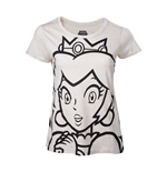 Nintendo - Princess Peach Outline White (T-SHIRT Donna )