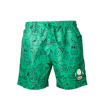 Nintendo - Mario Green With Allover Print (costume Da Bagno Uomo )