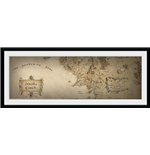 Lord Of The Rings - Map (Foto In Cornice 76x30 Cm)