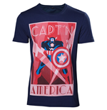 Marvel - Captain America Shield Up Blue (T-SHIRT Unisex )