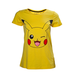 Pokemon - Blinking Pikachu Yellow (T-SHIRT Donna )