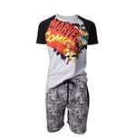 Marvel - Comics Vintage Logo Male Shortama Black (pigiama Unisex )