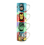 Marvel Characters - Stacking Mugs Set Of 4 (Set 4 Tazze Impilabili)