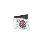 Nintendo - Super Mario Allover Pattern Bifold Wallet With Pvc Bifold U White (Portafoglio)