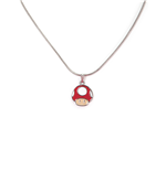 Nintendo - Mushroom Super Mario Metal Necklace With Charm Pendant Necklaces U Multicolor