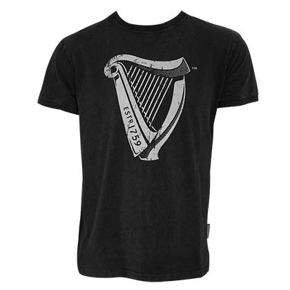 T-shirt Guinness Distressed Harp