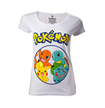 Pokemon - Starting Characters Grey (T-SHIRT Donna )