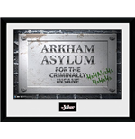 Batman Comic - Arkham Asylum Sign (Stampa In Cornice 30x40 Cm)