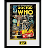 Doctor Who - Daleks Tardis Comic (Stampa In Cornice 30x40 Cm)