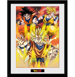 Dragon Ball Z - 3 Gokus (Stampa In Cornice 30x40 Cm)
