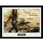 Walking Dead (The) - Michonne Kill (Stampa In Cornice 30x40 Cm)