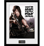 Stampa incorniciata The Walking Dead - Daryl Shoot Me 30 x 40 cm