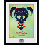 Suicide Squad - Harley Quinn Skull (Stampa In Cornice 30x40 Cm)