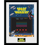 Space Invaders - Screen (Stampa In Cornice 30x40 Cm)