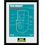 Space Invaders - Cabinet (Stampa In Cornice 30x40 Cm)
