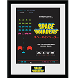 Space Invaders - Advert (Stampa In Cornice 30x40 Cm)