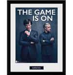 Sherlock - The Game Is On (Stampa In Cornice 30x40 Cm)