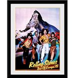 Rolling Stones (The) - On Tour 76 (Stampa In Cornice 30x40 Cm)