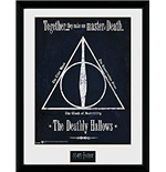 Stampa In Cornice Harry Potter - The Deathly Hallows -30x40 Cm