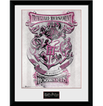 Harry Potter - Triwizard Hogwarts (Stampa In Cornice 30x40 Cm)