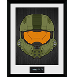 Halo 5 - Mask (Stampa In Cornice 30x40 Cm)