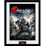 Gears Of War 4 - Game Cover (Stampa In Cornice 30x40 Cm)