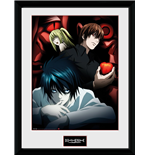 Stampa In Cornice Death Note - Light L And Misa - 30x40 Cm