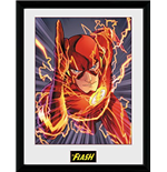 Dc Comics - The Flash Justice League (Stampa In Cornice 30x40 Cm)