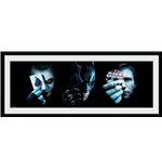 Batman - The Dark Knight - Trio (Stampa In Cornice 75x30 Cm)