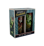 DC Bombshells Harley Quinn & Poison Ivy Set Of 2 Glasses (Set 2 Bicchieri)
