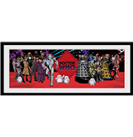 Doctor Who - Villains (Stampa In Cornice 75x30 Cm)