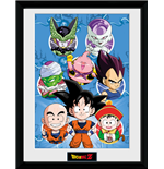 Dragon Ball Z - Chibi Heroes (Stampa In Cornice 30x40 Cm)