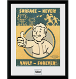 Stampa In Cornice Fallout 4 - Vault Forever 30x40 Cm