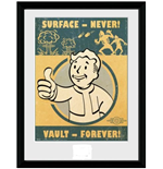 Fallout 4 - Vault Forever (Stampa In Cornice 15x20 Cm)