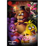 Poster Five Nights At Freddys - Group - 61x91,5 Cm