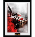 God Of War - Kratos Sparta Wing (Stampa In Cornice 30x40 Cm)