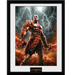 God Of War - Kratos Lightening (Stampa In Cornice 30x40 Cm)