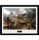 God Of War - Concept Art Canyon (Stampa In Cornice 30x40 Cm)