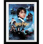 Harry Potter 1 - Candles (Stampa In Cornice 15x20 Cm)