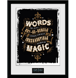 Stampa In Cornice Harry Potter - Words 30x40 Cm