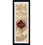 Harry Potter - Marauders Map (Stampa In Cornice 75x30 Cm)