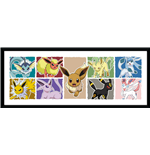 Pokemon - Eevee Evolution (Stampa In Cornice 75x30 Cm)