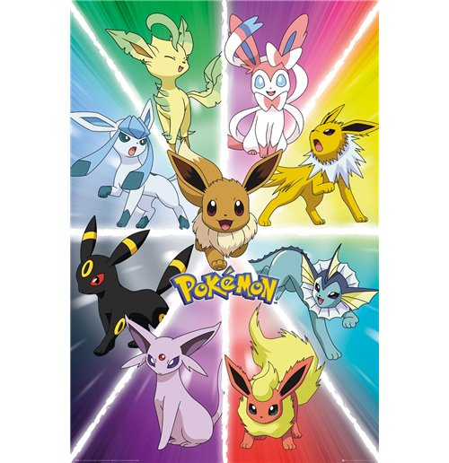 Poster Pokemon - Eevee Evolution 61x91,5 Cm