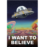 Poster Rick And Morty - I Want To Believe - 61x91,5 Cm